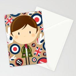 British Mod Boy in Parka Jacket Stationery Cards