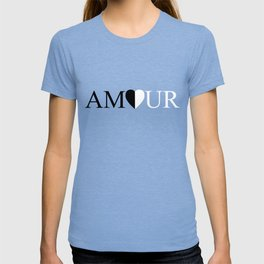 AMOUR LOVE Black And White Design T-shirt
