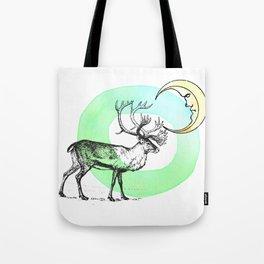 Reindeer Moon Tote Bag