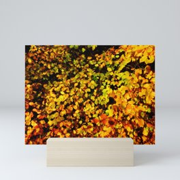 Autumn Beech Leaves Mini Art Print