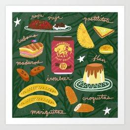 Cuban Food Art Print
