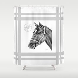 Affirmed (US) Thoroughbred Stallion Shower Curtain