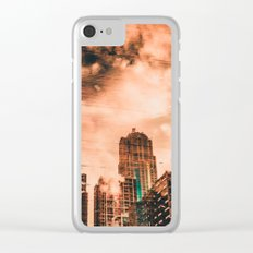 Seattle Pier 57 Dock Reflection Clear iPhone Case