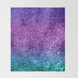 Unicorn Girls Glitter #10 #shiny #decor #art #society6 Throw Blanket