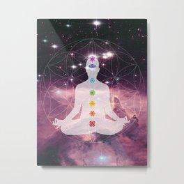 Awakening Chakra Healing Meditation Metal Print