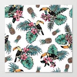 Tucan Tropical Pattern Canvas Print