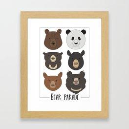 Bear Parade pt. 1 Framed Art Print