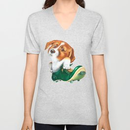 A little dog in a spike Unisex V-Neck
