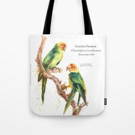 Extinct Birds: Carolina Parakeet Tote Bag