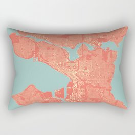 Seattle, Washington City Map, Colorful Rectangular Pillow
