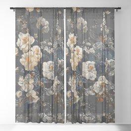 Midnight Garden XII Sheer Curtain