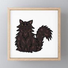 Floofy boi Framed Mini Art Print