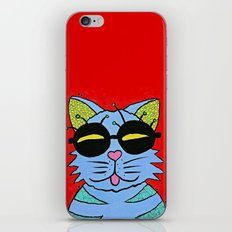 cat with glasses iPhone & iPod Skin