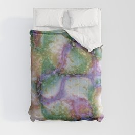 Crystal Formation Tan Purple Green Comforters