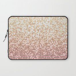 Champagne Gold Blush Pink Glittery Ombre Pattern #society6 Laptop Sleeve