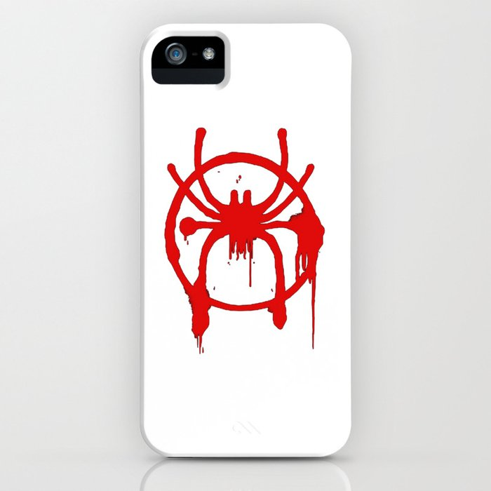 Spider Man Into The Spider Verse Spray Paint Logo Iphone Case By