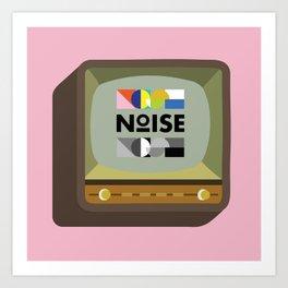 Noise TV Art Print