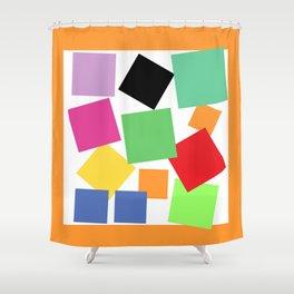 Bouquet of Squares Shower Curtain