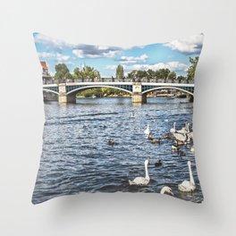 Windsor Town Bridge Throw Pillow