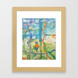 Song for Rainbow Parrot Framed Art Print