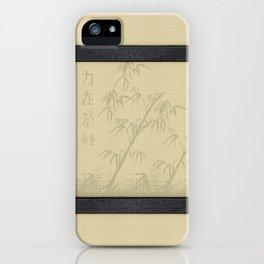 Tatami - Bamboo iPhone Case