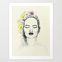 Floral Kiss Art Print
