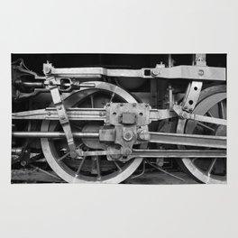 locomotive wheels Rug