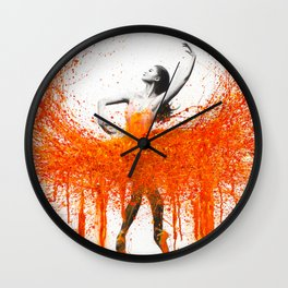 Dancing With Fire Wall Clock