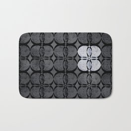 Pattern Eight Black and White Bath Mat