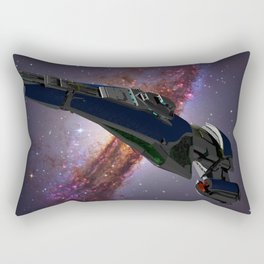 A Spaceship called Vagabond Rectangular Pillow