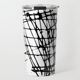 Sketch Black and White Travel Mug