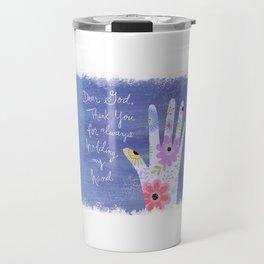 Thank you God (Hand art) Travel Mug
