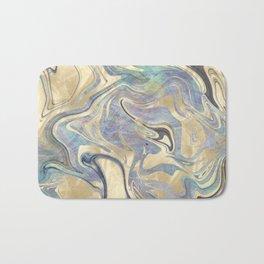 Liquid Gold Mermaid Sea Marble Bath Mat