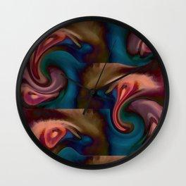 Abstract Eyes Wall Clock