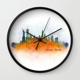 New York City Skyline Hq V03 Wall Clock
