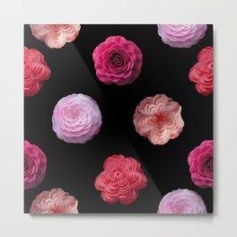 Pattern with camellias Metal Print