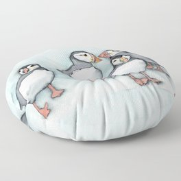 Puffins 2 Floor Pillow