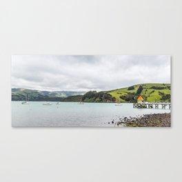 Daly's Pier, Akaroa, New Zealand Canvas Print