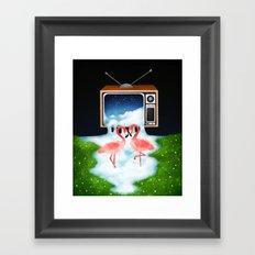 Momentary Static Framed Art Print