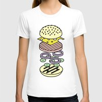 burger T-shirts featuring Burger by Jan Luzar