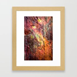Colorful Nature : Texture Warm Tones Framed Art Print