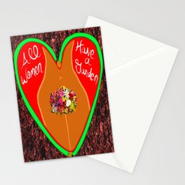All Women Have a Garden 4 Stationery Cards