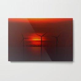 Windmills in the Sun Metal Print