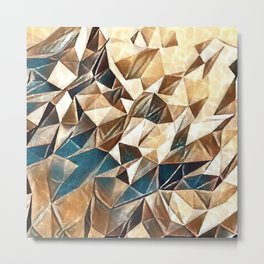 Abstract Polygon,Cubism,Low Poly,Triangle Design Metal Print
