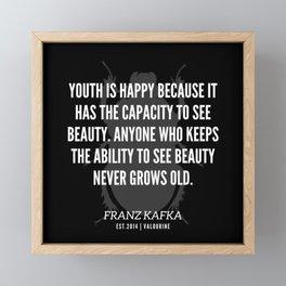 4 |  Franz Kafka Quotes | 190517 Framed Mini Art Print
