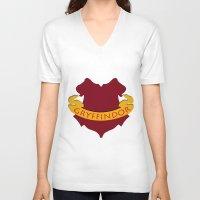 gryffindor V-neck T-shirts featuring Gryffindor by konchoo