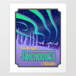 Landmarks of Life: Anchorage, Alaska Art Print