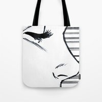 sports Tote Bags featuring Sports by notalkingplz