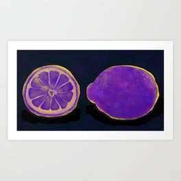 Sweet Purple Lemons Art Print