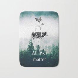 All lives matter go vegan Bath Mat